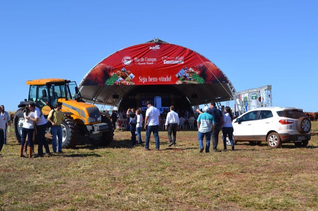 Dia de Campo da Fazenda Palmito põe em evidência o Senepol Constelação, em Goiás, com a participação da S+. (Foto: Divulgação Senepol Constelação)