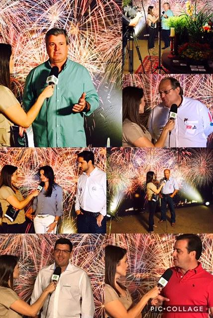 Entrevistas ao vivo na tarde de sábado.
