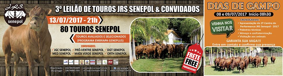 3º Leilão de Touros JRS Senepol e Convidados