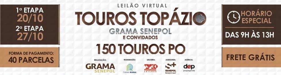 Leilão Virtual Touros Topázio Grama Senepol & Convidados